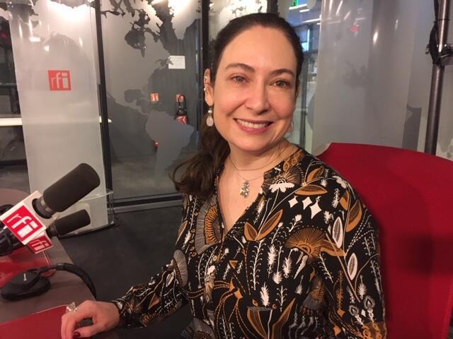 A artista plástica Christine Graf Guimarães.