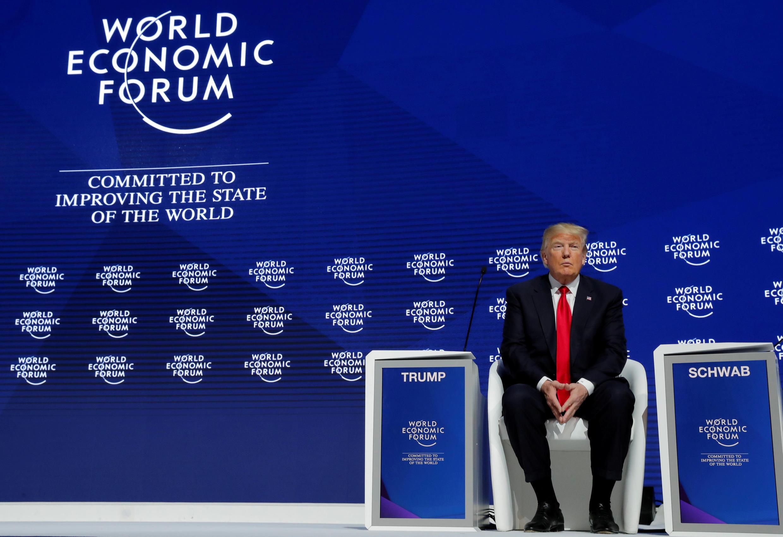 特朗普出席達沃斯會議 2018年1月26日