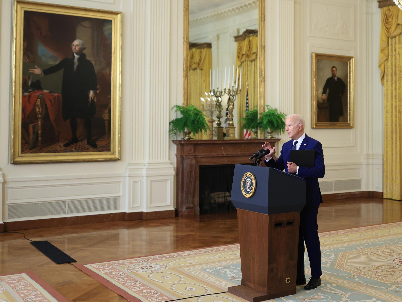 Joe Biden, à la Maison Blanche le 15 avril 2021.