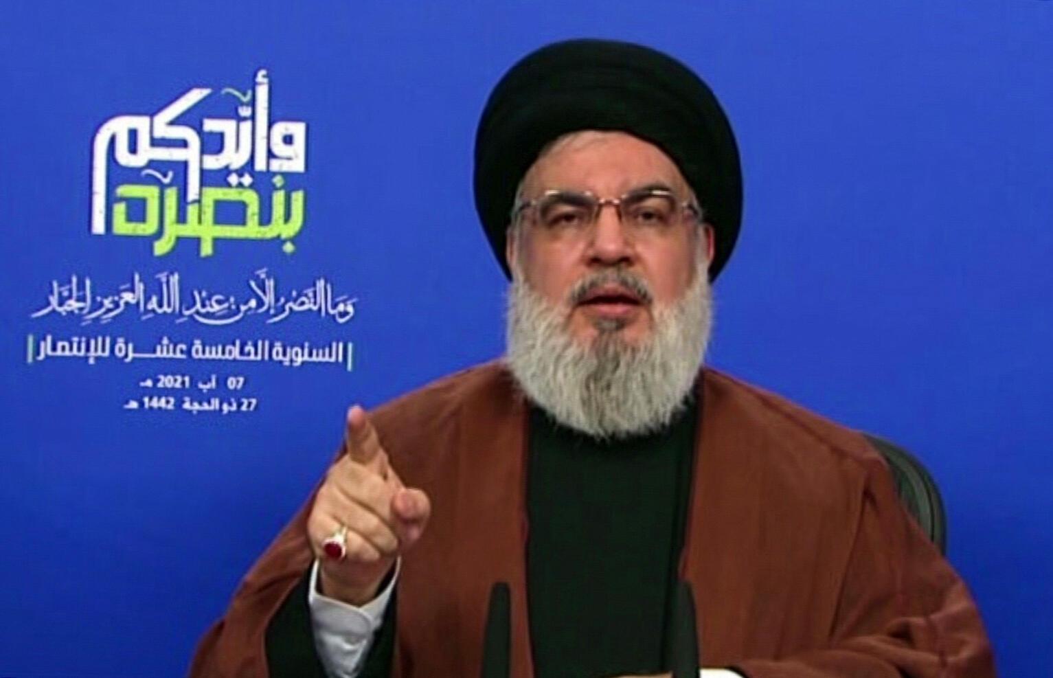 Hezbollah leader Hassan Nasrallah described the air strikes this week as a 'very dangerous development', but said Hezbollah did not want war