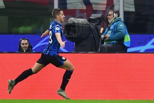 Mario Pasalic scored Atalanta's first goal in their 2-0 win over Napoli.