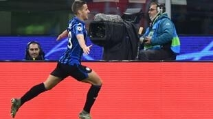 Mario Pasalic scored Atalanta's first goal in their 2-0 win over Napoli.within seconds of coming on for Atalanta