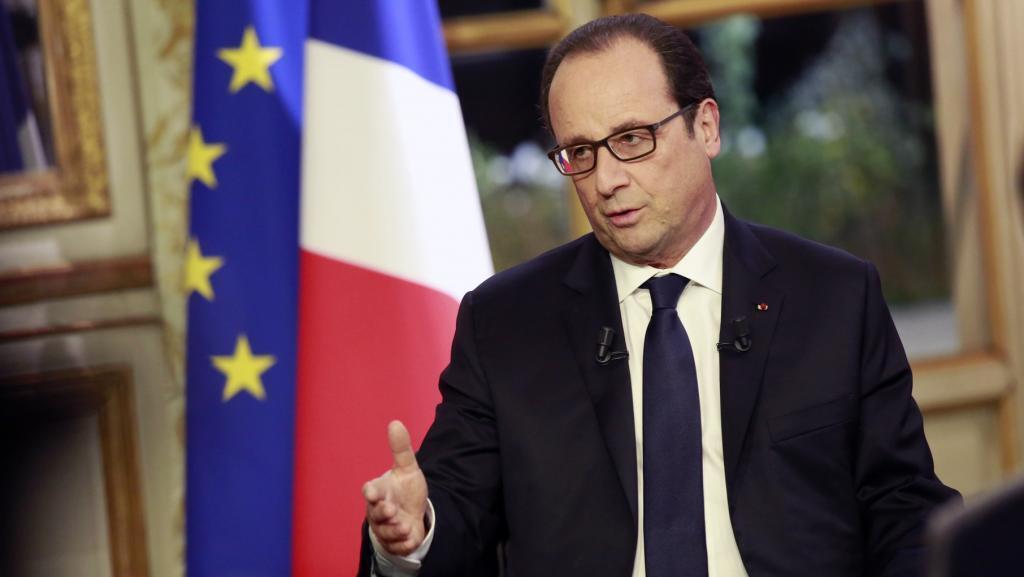 Rais wa Ufaransa, François Hollande, akijibu maswali ya waandishi wa habari wa RFI< France 24 na TV5 Monde, Alhamisi Novemba 27 mwaka 2014.