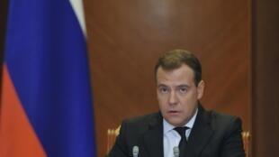 O premiê russo, Dmitri Medvedev.