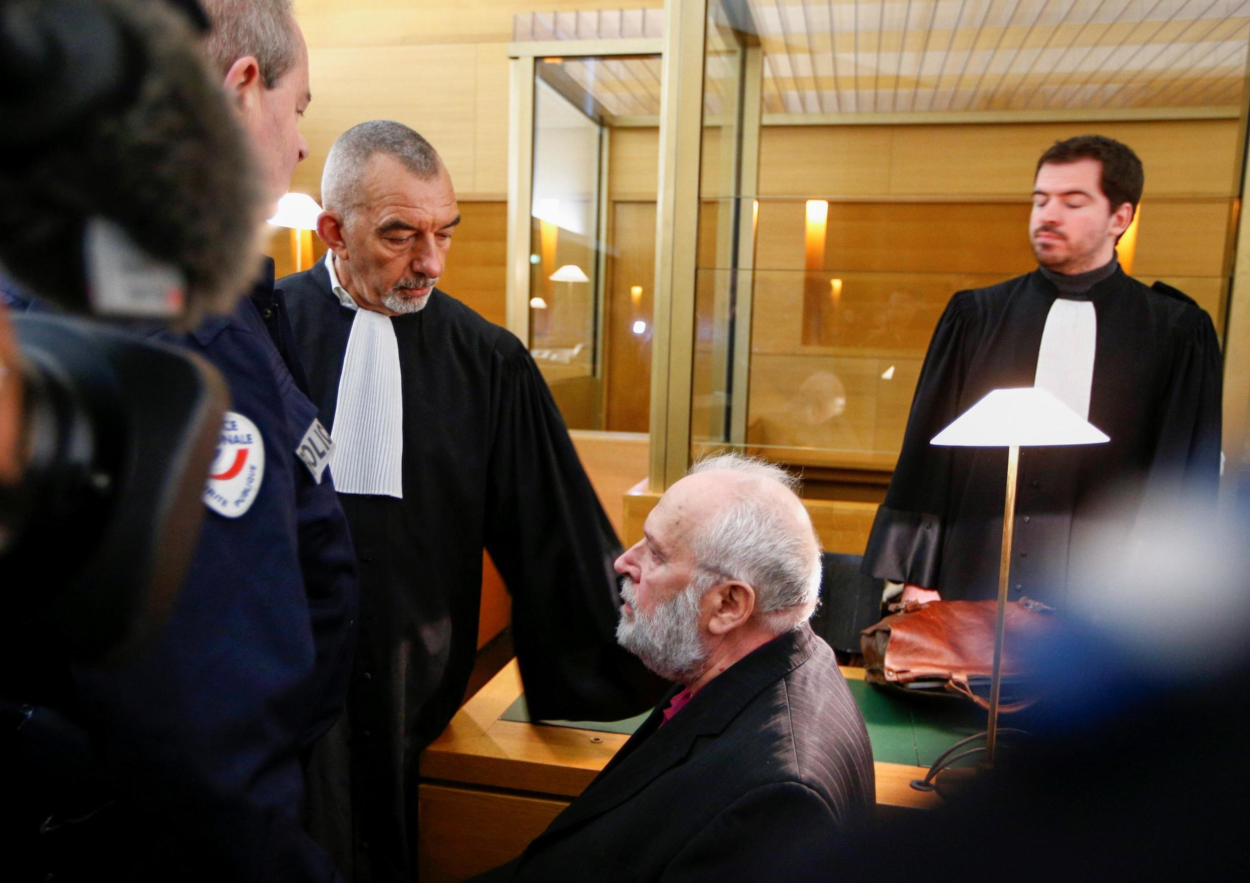 Former French priest Bernard Preynat at his trial on charges of sex abuse of minors in Lyon, France, 13 January, 2020.