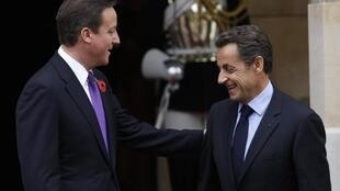 David Cameron welcomes Nicolas Sarkozy to Lancaster House