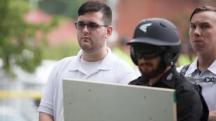 James Alex Fields, durante o acontecimento de Charlottesville.