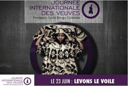 Affiche de la Journée internationale des veuves au Gabon.