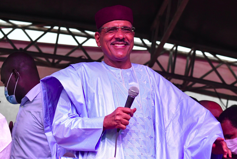 El nuevo presidente de Níger, Mohamed Bazoum , 23 de febrero de 2021 en Niamey
