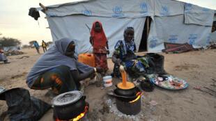 Des habitantes de Baga dans un camp de réfugiés, le 26 janvier 2015,