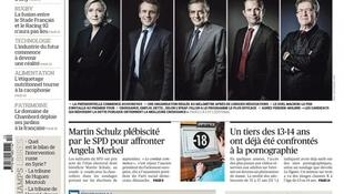 Debate inédito acontece nesta segunda-feira (20) dentro da programação da eleição presidencial francesa.