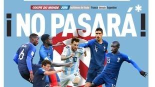 Portada de L'Equipe del 29 de junio de 2018.
