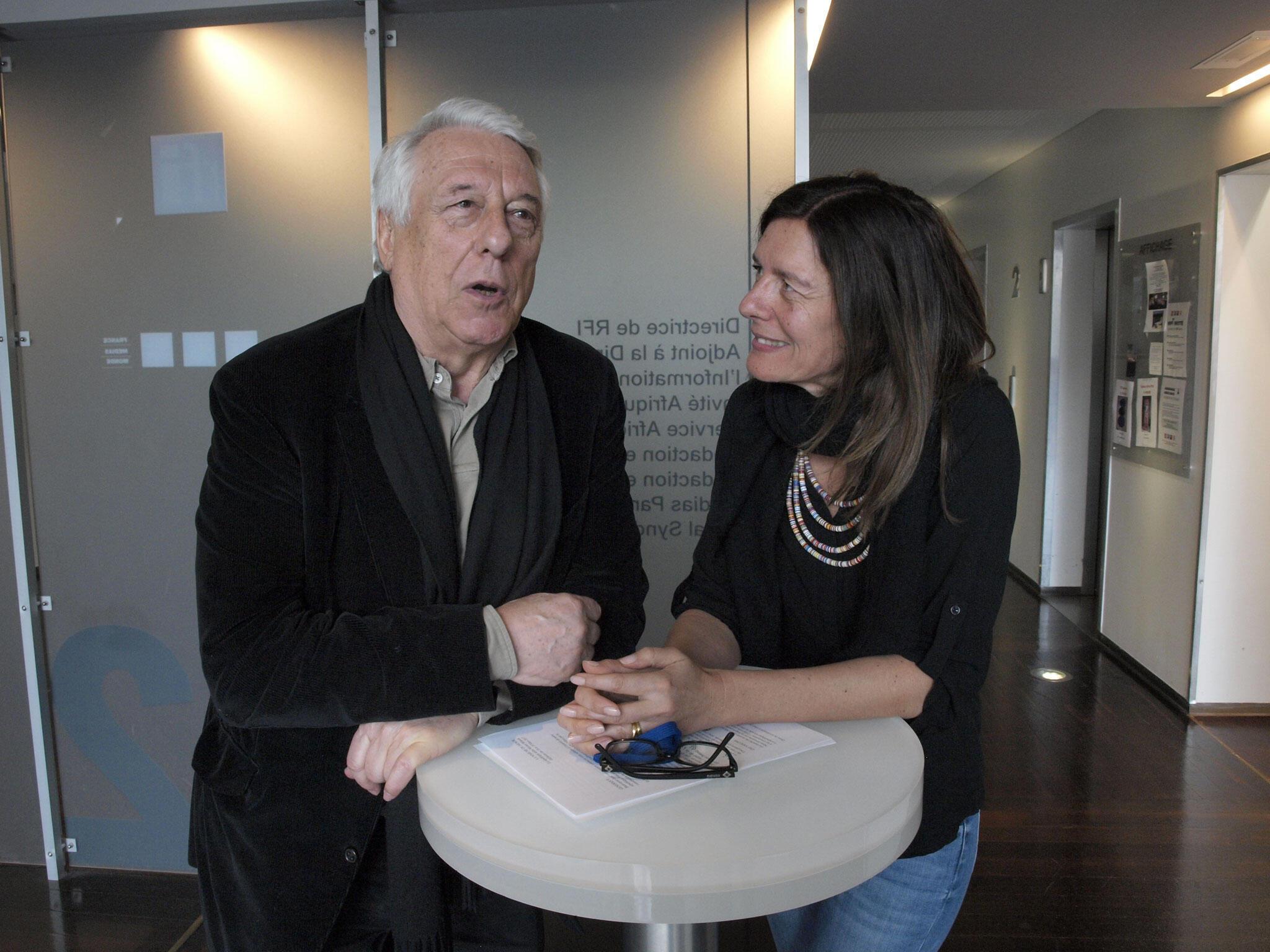 Michel Winock et Valérie Nivelon.