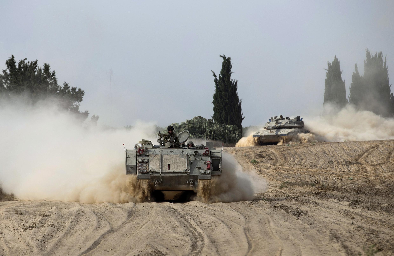 نیروهای نظامی اسرائیل در نزدیکی نوار غزه، 7 جولای