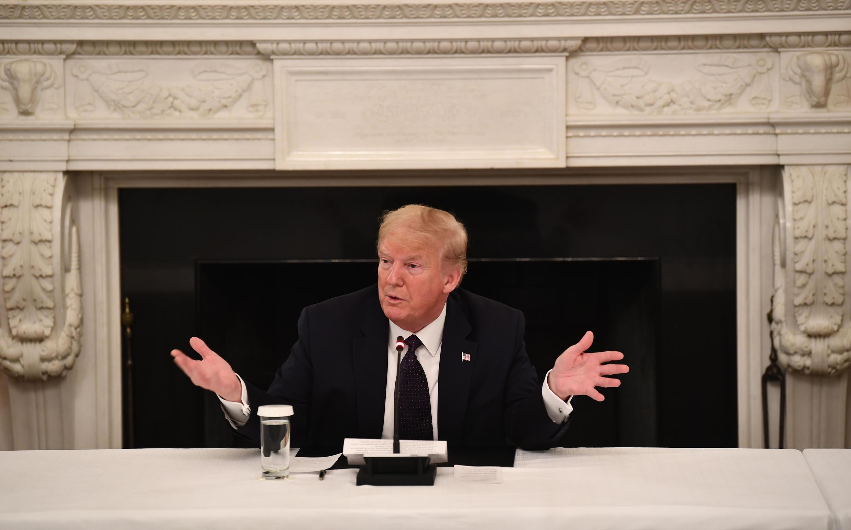 Tổng thống Mỹ Donald Trump tại Nhà Trắng, Washington, ngày 18/05/2020.
