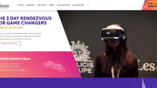Page d'accueil du site web du salon Vivatechnology, édition 2017, du 15 au 17 juin à Paris.