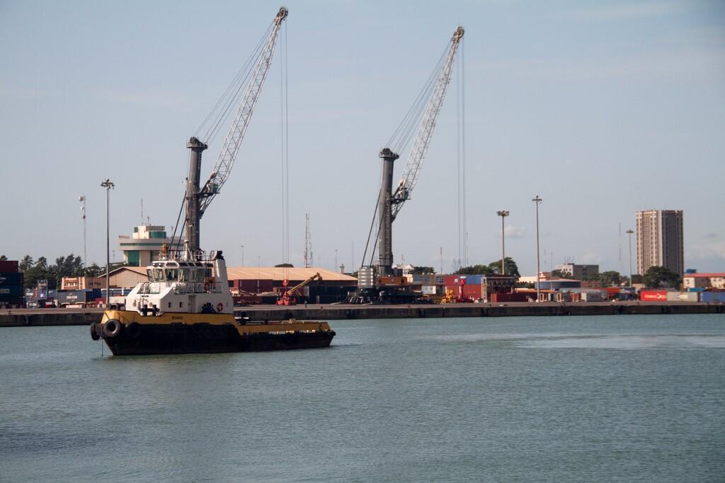 Une vue du port de Cotonou au Bénin, le 28 mai 2019.