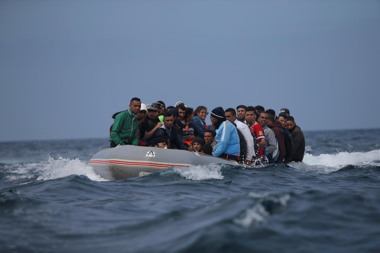 Des migrants en provenance du Maroc traversent le détroit de Gibraltar vers Tarifa en Espagne, le 27 juillet 2018. (Image d'illustration)