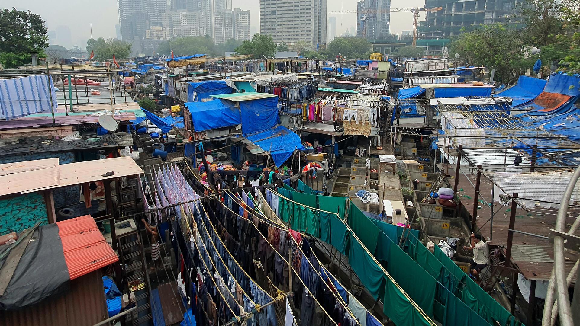 Inde - Bombay - La grande laverie - Si loin si proche