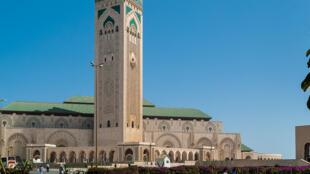 La mosquée Hassan II à Casablanca, au Maroc.