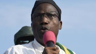 Le leader du PNP (PanAfrican National Party) Tikpi Atchadam s'adresse à ses partisans, à Lomé, le 6 septembre 2017.