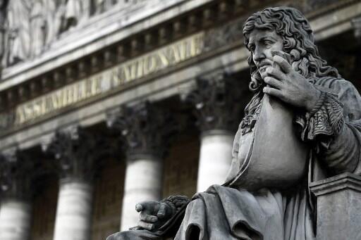 Une statue de Jean-Baptiste Colbert(1619-1683), devant l'Assemblée nationale