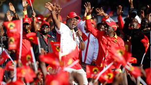Rais Uhuru Kenya akiwa na mgombea mwenza wake William Ruto, Nakuru hivi karibuni