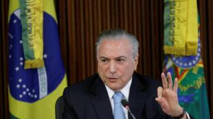Le président du Brésil, Michel Temer.