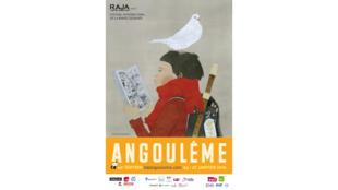 Affiche du 46e festival international de bande dessinée d'Angoulême.