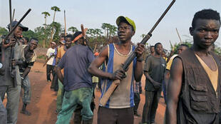 Villages have formed local self-defence forces to protect themselves from attack by Ugandan rebels of the Lord's Resistance Army
