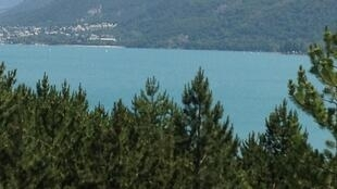 The Serre-Ponçon lake in the Hautes-Alpes.