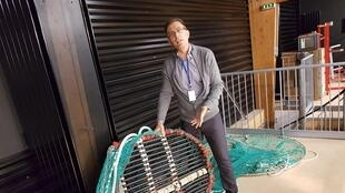 Pascal Larnaud du Laboratoire de Technologie et Biologie Halieutiques, Responsable de la Station Ifremer de Lorient.