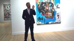 """Bức tranh """"Untitled""""  - Vô đề của Basquiat được Sotheby's bán với giá kỷ lục 110,5 triệu đô la"""
