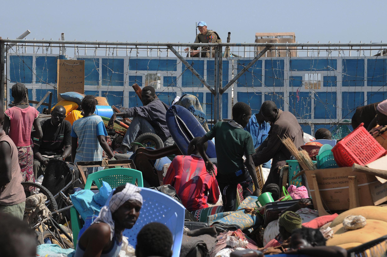 Bentiu, au Soudan du Sud, en janvier 2014.