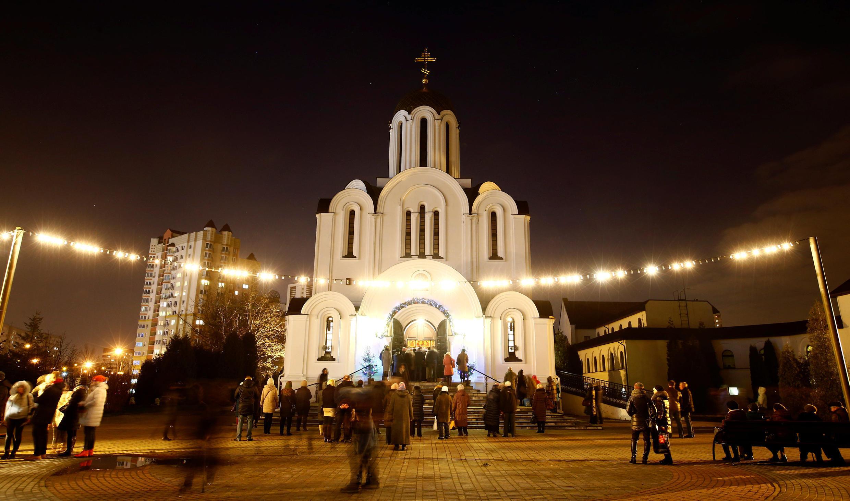 Минск накануне Рождества 6 января 2018