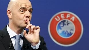 Gianni Infantino, the head of the Uefa.