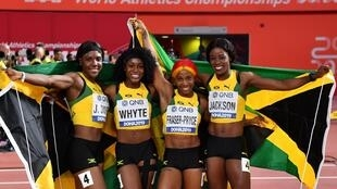 Victory in the 4x100m relay gave Shelly-Ann Fraser-Pryce her second gold of the championships. The 32-year old hailed teammates Jonielle Smith, Natalliah Whyte and Shericka Jackson.