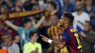Neymar no jogo contra o Ajax, na útima terça-feira, na Liga dos Campeões.
