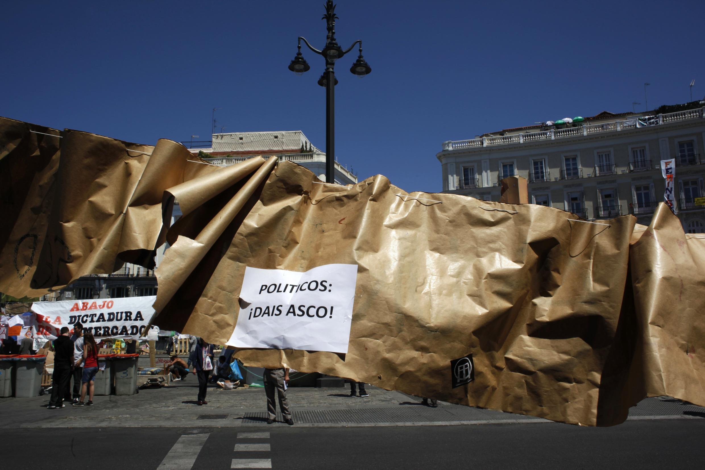 Центральная площадь Мадрида Пуэрта дель Сол 24/05/2011