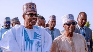 Shugaban Najeriya  Muhmmadu Buhari tare da takwaransa na Guniea Conakry Alpha Conde