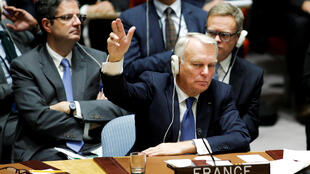 El ministro francés de Relaciones Exteriores, Jean-Marc Ayrault, en la ONU 8 de octubre.