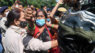 2020-09-30 india new delhi protest rape murder