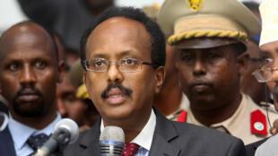Le président somalien Mohamed Abdullahi Farmajo, le 8 février 2017.