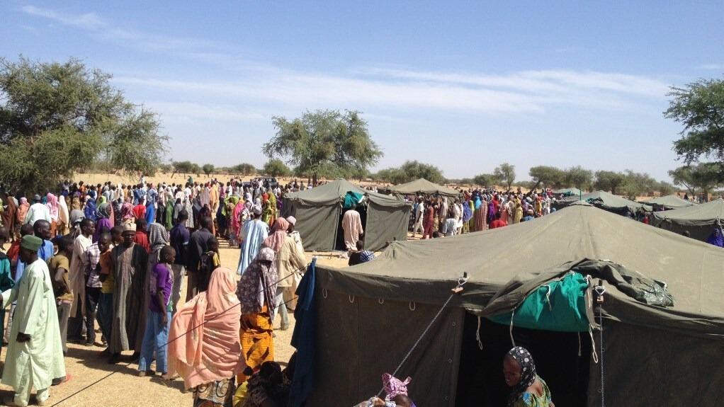 Sansanin 'yan gudun hijirar da Boko Haram ta kora a jihar Diffa,kudu maso gabashin Nijar.