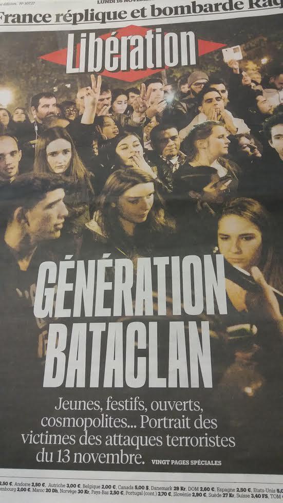 Обложка газеты «Либерасьон» от 16 ноября 2015 г.