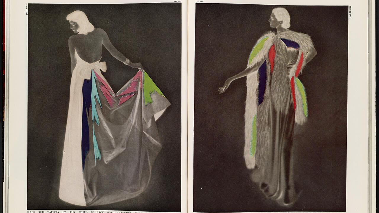 Ман Рей. Harper's Bazaar «Черный шелк, Alix», февраль 1937 г.