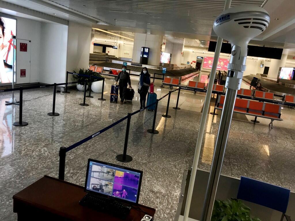 Aeroporto de Wuhan vazio depois da decisão das autoridades de colocar a cidade em quarentena a partir desta quinta-feira, 23 de janeiro de 2020.