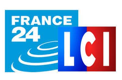 Logos de France 24 et de LCI.
