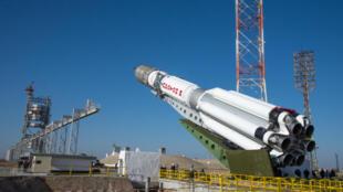 Depuis Baïkonour, au Kazakhstan, la fusée russe proton va envoyer dans l'espace le satellite ExoMars.