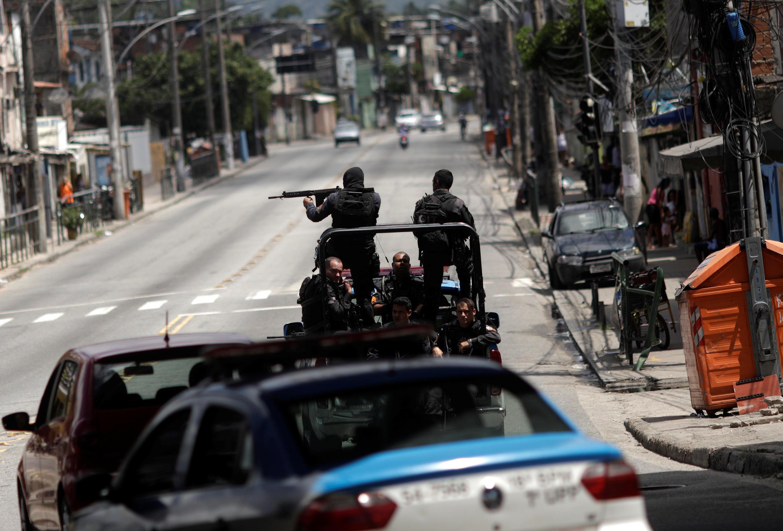 Militares na Cidade de Deus, no Rio de Janeiro (01/02/18).